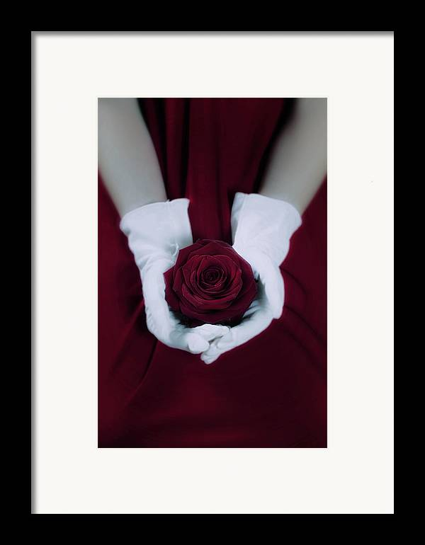 Woman Framed Print featuring the photograph Red Rose by Joana Kruse