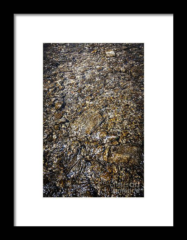 Water Framed Print featuring the photograph Rocks In Water by Elena Elisseeva