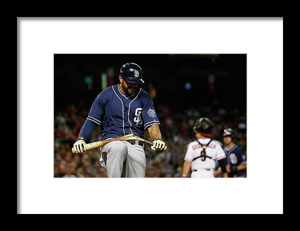 People Framed Print featuring the photograph San Diego Padres V Arizona Diamondbacks 3 by Christian Petersen