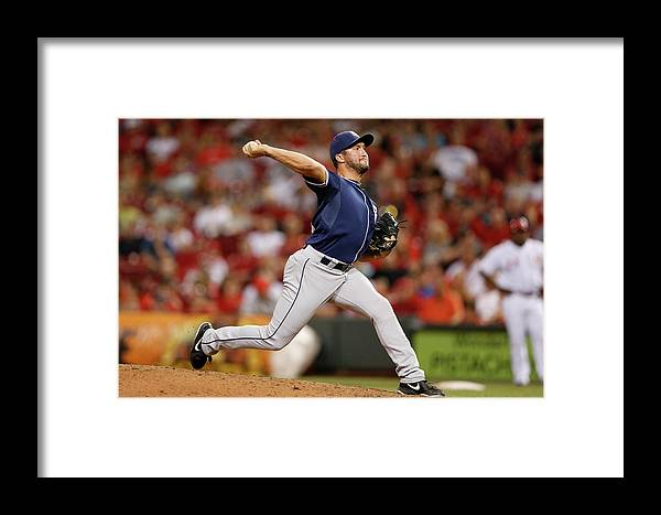 Great American Ball Park Framed Print featuring the photograph San Diego Padres V Cincinnati Reds 3 by Joe Robbins