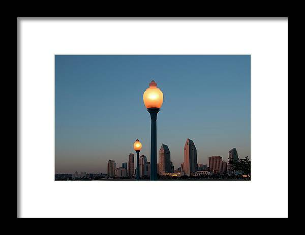 Tranquility Framed Print featuring the photograph San Diego Skyline by Mitch Diamond