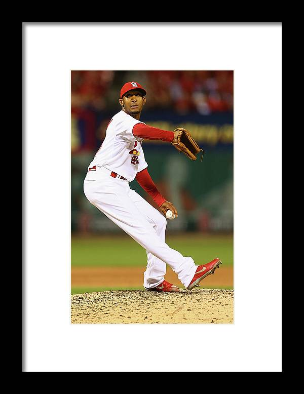 St. Louis Cardinals Framed Print featuring the photograph San Francisco Giants V St. Louis by Dilip Vishwanat