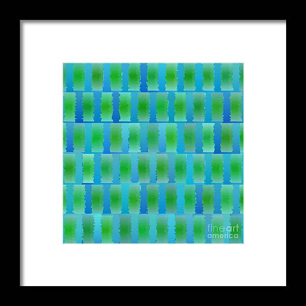 Abstract Framed Print featuring the photograph Seamless Colored Background by Christophe ROLLAND