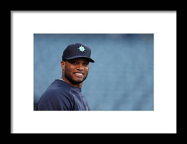 American League Baseball Framed Print featuring the photograph Seattle Mariners V Los Angeles Angels by Jeff Gross