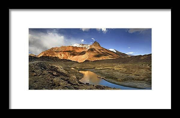 Serchu Valley Framed Print featuring the photograph Serchu Valley Leh India by Sharat Sharma