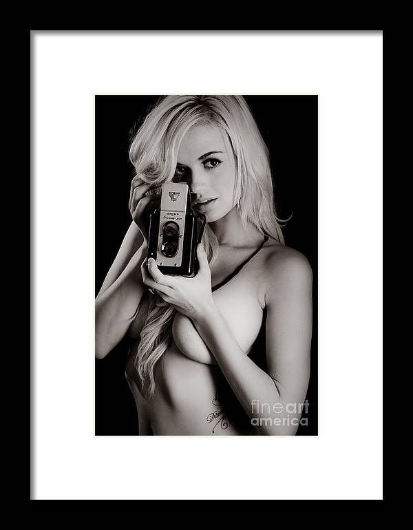Skincare Framed Print featuring the photograph Sexy Photographer by Jt PhotoDesign