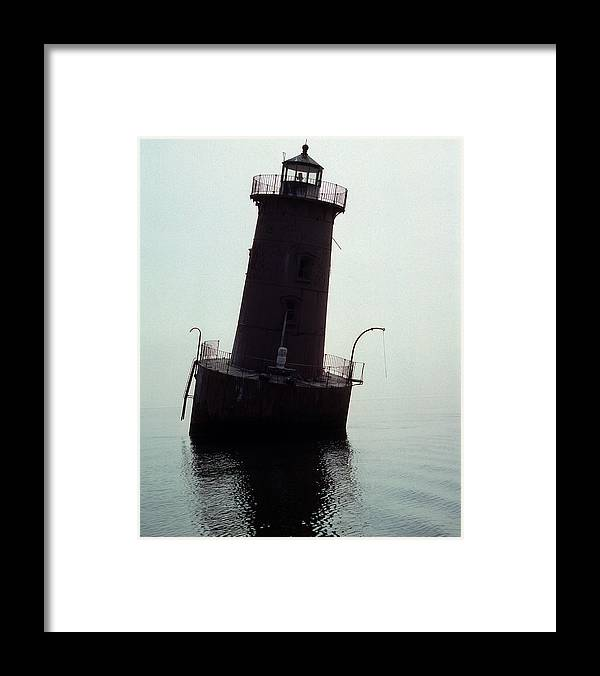 Sharps Island Framed Print featuring the photograph Sharps Island Lighthouse by Skip Willits