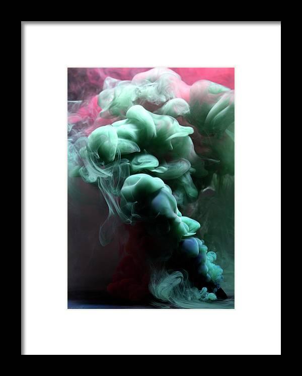 Black Background Framed Print featuring the photograph Smoke by Henrik Sorensen