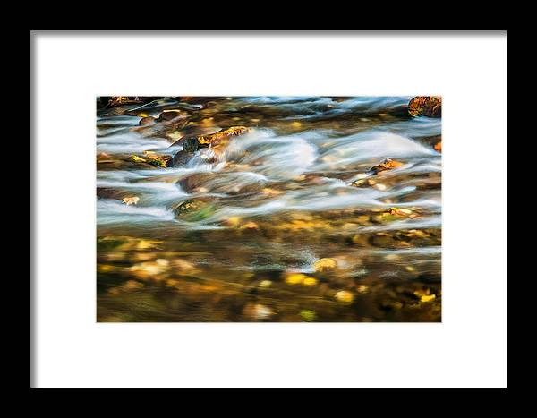 Stream Framed Print featuring the photograph Stream Fall Colors Great Smoky Mountains Painted by Rich Franco