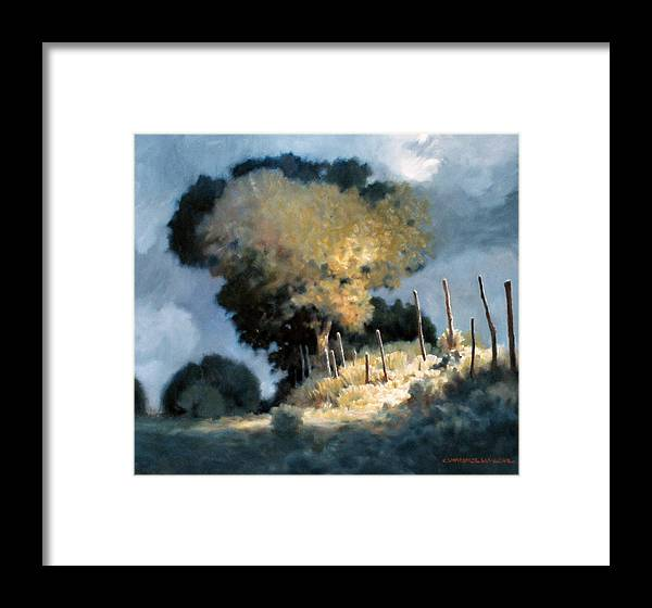 Trees Framed Print featuring the painting Sun Garden by Kevin Lawrence Leveque