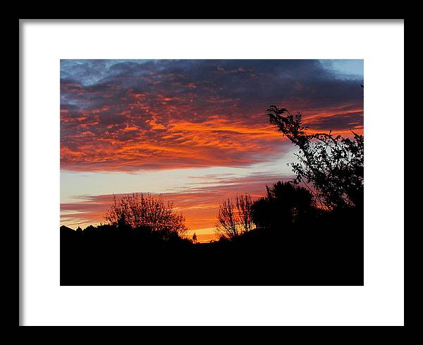 Sunset Framed Print featuring the photograph Sunset New Zealand by Joyce Woodhouse