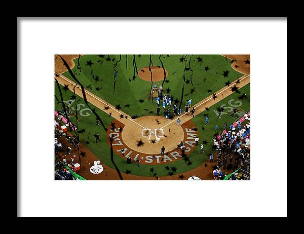 People Framed Print featuring the photograph T-Mobile Home Run Derby by Mike Ehrmann