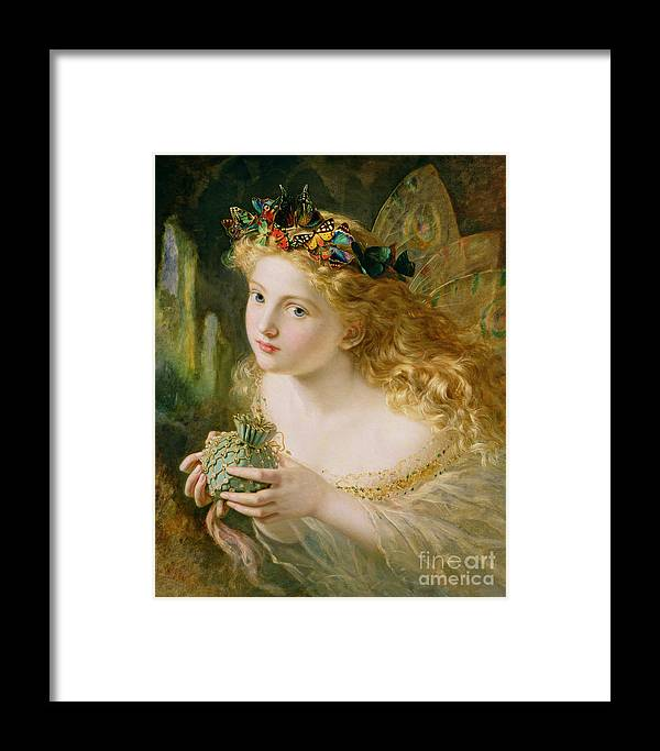 Female Framed Print featuring the painting Take The Fair Face Of Woman by Sophie Anderson