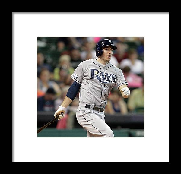 Second Inning Framed Print featuring the photograph Tampa Bay Rays V Houston Astros by Bob Levey