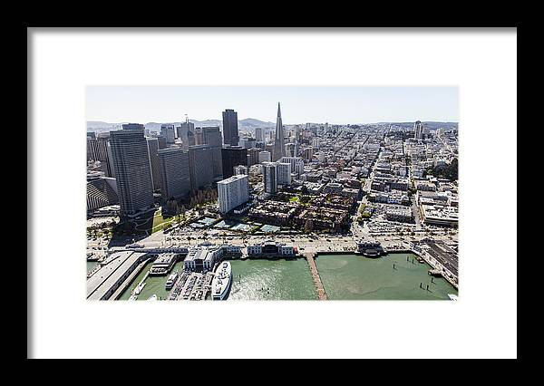 America Framed Print featuring the photograph The Embarcadero And Downtown, San by Dave Cleaveland
