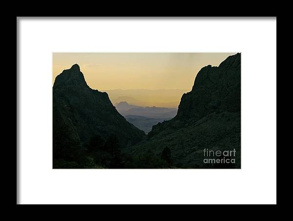 Travelpixpro Big Bend Framed Print featuring the photograph The Window At Sunset In Chisos Mountains Of Big Bend National Park Texas by Shawn O'Brien