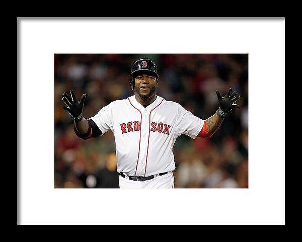 American League Baseball Framed Print featuring the photograph Toronto Blue Jays V Boston Red Sox by Jim Rogash