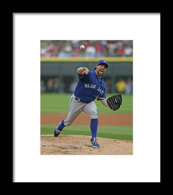 American League Baseball Framed Print featuring the photograph Toronto Blue Jays V Chicago White Sox by Jonathan Daniel
