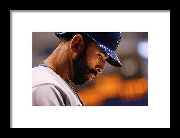 On-deck Circle Framed Print featuring the photograph Toronto Blue Jays V Tampa Bay Rays by Brian Blanco