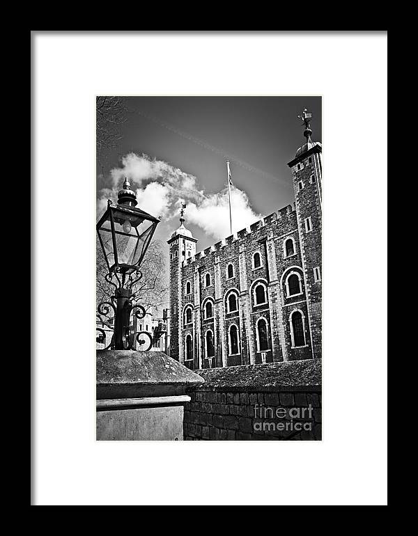 Tower Framed Print featuring the photograph Tower Of London by Elena Elisseeva
