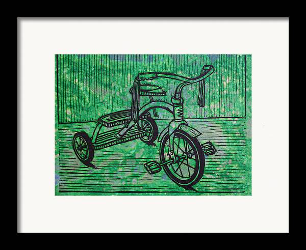 Tricycle Framed Print featuring the drawing Tricycle by William Cauthern