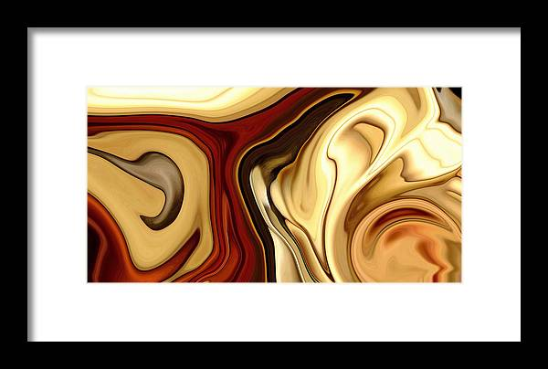 Landscape Framed Print featuring the digital art Untitled by Chad Miller