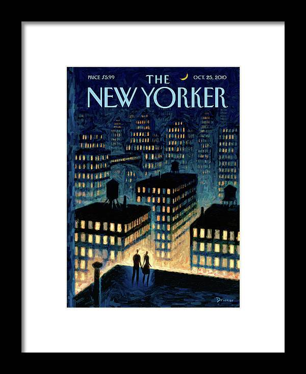 Twilight Framed Print featuring the painting New Yorker October 25th, 2010 by Eric Drooker