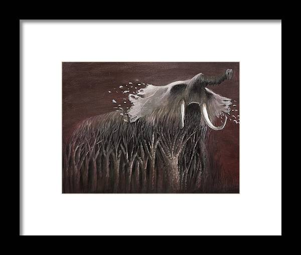 Oil Framed Print featuring the painting Untitled by Kevin McKee