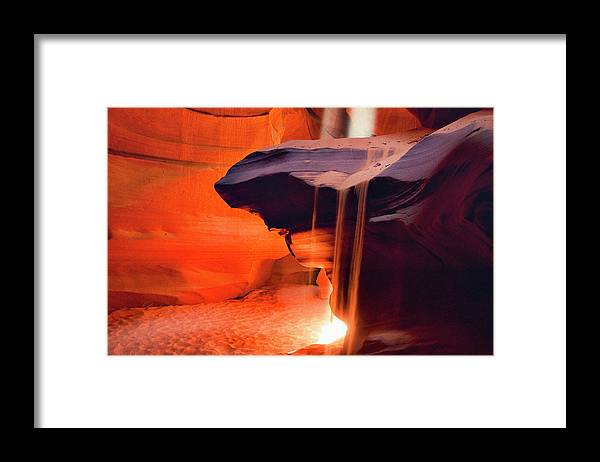 Native American Reservation Framed Print featuring the photograph Upper Antelope Canyon by Powerofforever