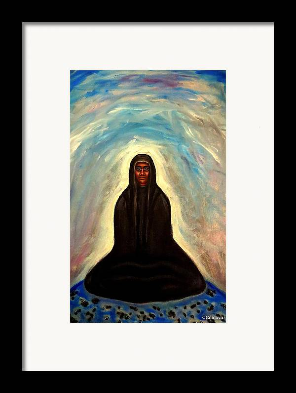 Evil Framed Print featuring the painting Waiting... by Carmen Cordova