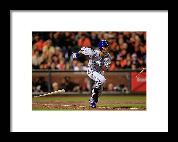 Double Play Framed Print featuring the photograph World Series - Kansas City Royals V San by Jamie Squire