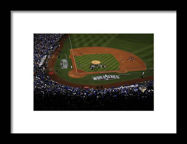 American League Baseball Framed Print featuring the photograph World Series - San Francisco Giants V by Ezra Shaw