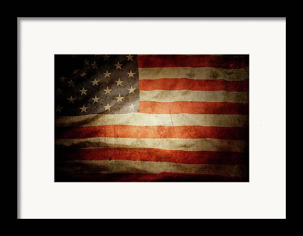 Flag Framed Print featuring the photograph American Flag by Les Cunliffe