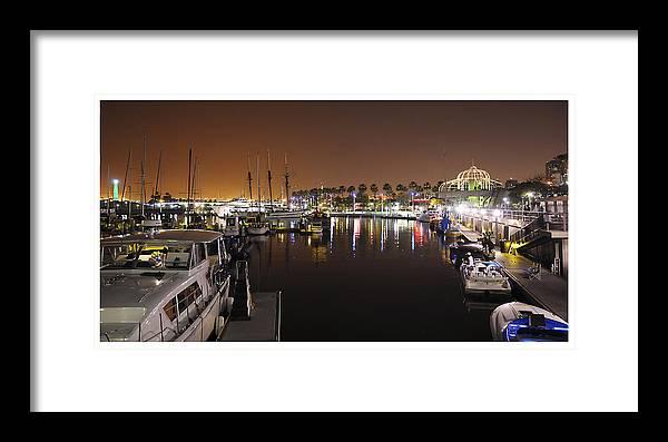 Long Beach Framed Print featuring the photograph Long Beach Marina- California by Patrick Warneka