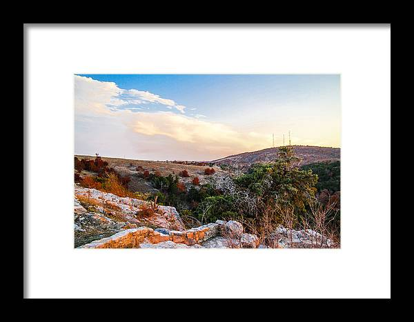 Landscape Framed Print featuring the photograph Turner Falls Oklahoma by Tinjoe Mbugus