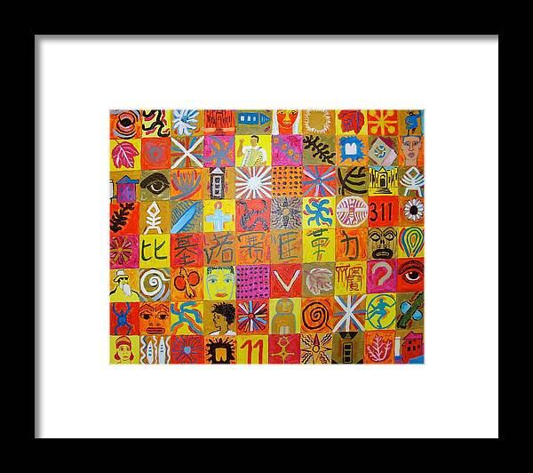 Framed Print featuring the painting 311 Series by Biagio Civale