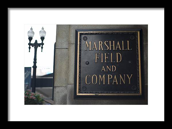 Chicago Framed Print featuring the photograph Marshall Field's Store by Patrick Warneka