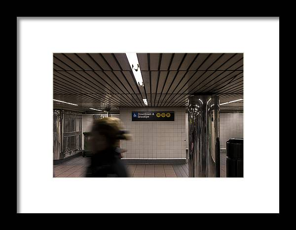 Subway Framed Print featuring the photograph 34th 1 by Colin Pearce