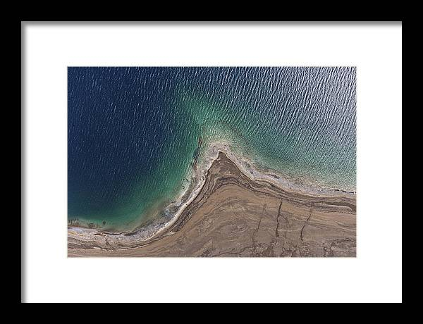 Israel Framed Print featuring the photograph Observation Of Dead Sea Water Level by Ofir Ben Tov