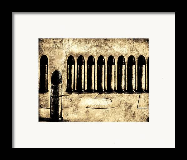 Bullets Framed Print featuring the photograph 357 by Bob Orsillo