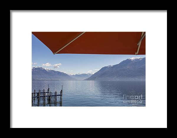 Parasol Framed Print featuring the photograph Alpine Lake by Mats Silvan