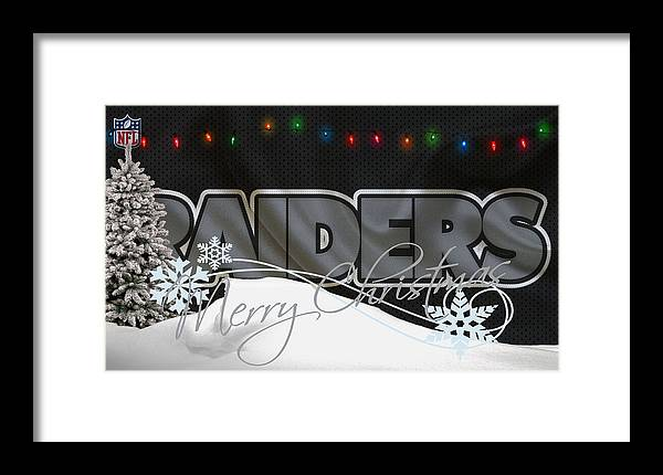 Raiders Framed Print featuring the photograph Oakland Raiders by Joe Hamilton