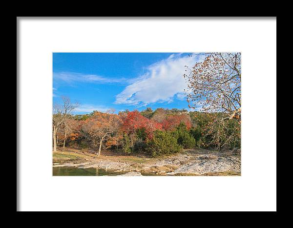 Fall Framed Print featuring the photograph Turner Falls Oklahoma by Tinjoe Mbugus