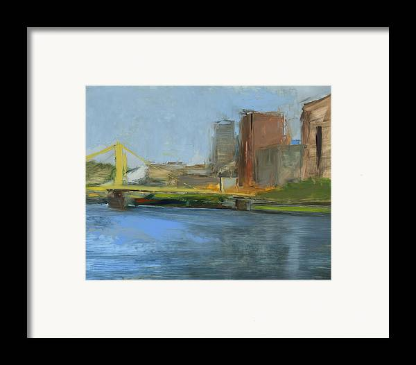 Bridges Framed Print featuring the painting Rcnpaintings.com by Chris N Rohrbach