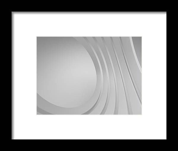 Arch Framed Print featuring the photograph 3d Blank Abstract Architecture by Me4o
