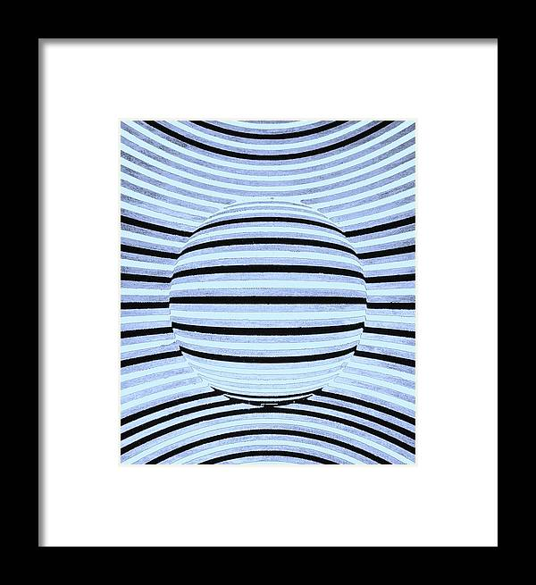 Optical Illusion Framed Print featuring the digital art 3d Falling Ball by Twilight Vision