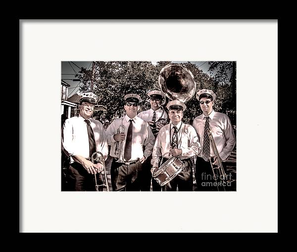 Band Framed Print featuring the photograph 3rd Line Brass Band by Renee Barnes