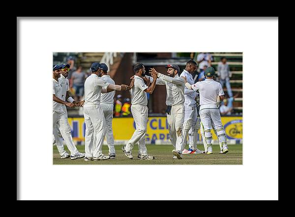 International Match Framed Print featuring the photograph 3rd Sunfoil Test: South Africa v India, Day 4 by Gallo Images