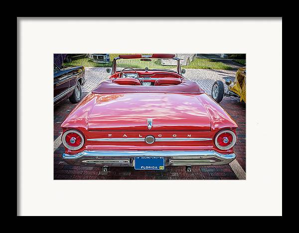 1963 Ford Falcon Sprint Framed Print featuring the photograph 1963 Ford Falcon Sprint Convertible by Rich Franco