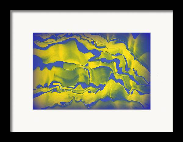 Original Framed Print featuring the painting Abstract 106 by J D Owen